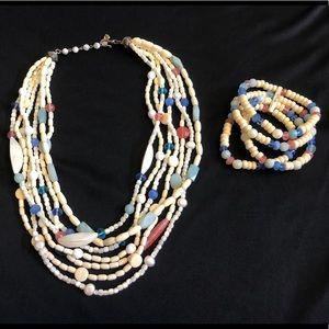 Carlee Beaded Necklace and Bracelet Set
